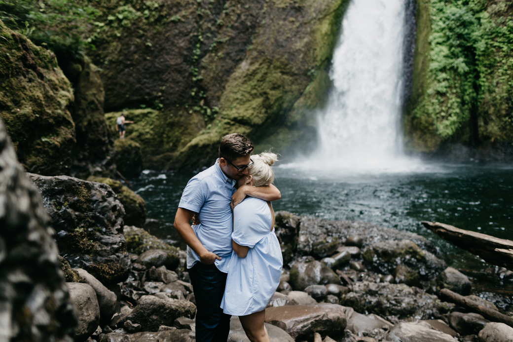 Portland Waterfall Engagement Session